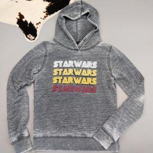 Star Wars  gray burnout hoodie